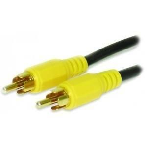 alpha elettronica cavo da spina rca video a spina rca video 10mt oro 84-050/10as