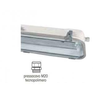 palazzoli plafoniera stagna 2x18w con alimentatore elettromagnetico rino 845102