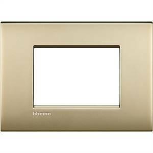 bticino livinglight air placca 3 moduli colore oro satinato lnc4803of