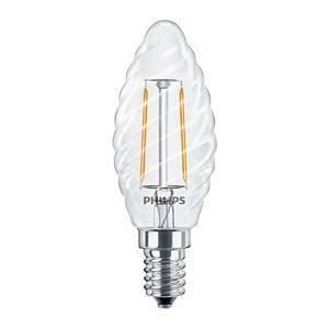 philips lampadina led candela tortiglione filamento 2,3w attacco e14 luce calda philedtor25e14