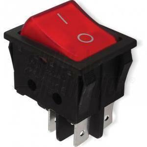 alpha elettronica interruttore luminoso a bilancere 2 poli on/-/off faston 6,3 320-002