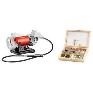 einhell italia smerigliatrice da banco con stelo e kit accessori 75 pz th-xg 4412560