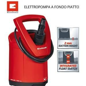 einhell italia elettropompa a fondo piatto ge-sp750 ll 4170666