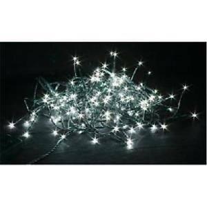 giocoplast luci natalizie 180 led bianchi freddi uso esterno/interno 14312371