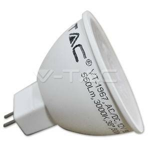 v-tac lampadina led 7w attacco gu5.3 12v luce fredda 1665