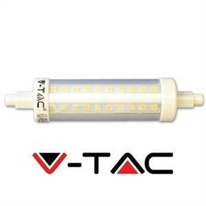 v-tac lampadina lineare led attacco 10w attacco r7s luce naturale 4389