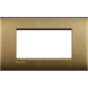 bticino livinglight air - placca 4 moduli colore oro satinato lnc4804of