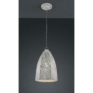 trio lighting italia vintage irene sospensione metallo grigio anticato 40w 302300161