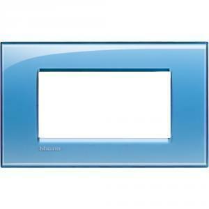 bticino livinglight placca 4 moduli colore azzurro deep lna4804ad