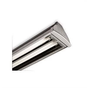 beghelli plafoniera 1x58w modello acciaio t8 14804