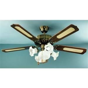 perenz perenz ventilatore ottone brunito con kit luce 7066ob