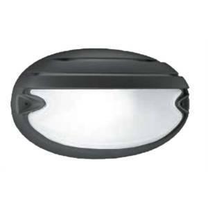 prisma plafoniera ovale da esterno nera con griglia chip 005787