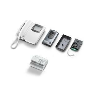 elvox elvox kit videocitofonico monofamiliare bianco e nero 2 fili 68ia/r