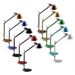 artemide artemide lampada da tavolo bracci mobili tolomeo micro alluminio a011800
