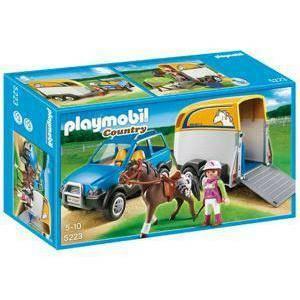 playmobil suv con trasporto cavalli