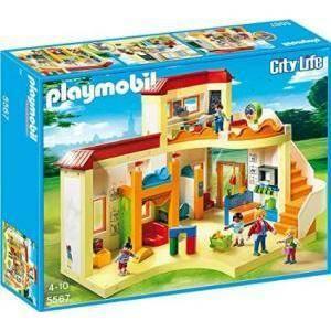 playmobil grande asilo con area gioco e nido