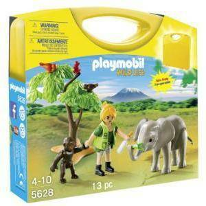 playmobil playmobil carrying case wildlife