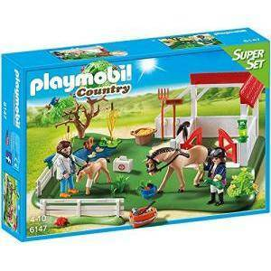 playmobil playmobil superset clinica dei pony