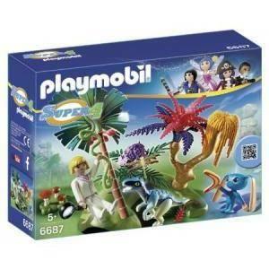 playmobil l'isola perduta con alien e raptor