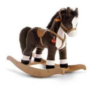 trudi trudi cavallo a dondolo marrone