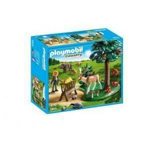 playmobil playmobil guardiaboschi con animali