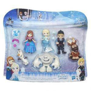 hasbro - mb hasbro - mb frozen personaggi piccoli collection pack