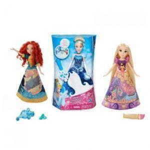 hasbro - mb hasbro - mb bambola principessa gonna magica cambiacolor