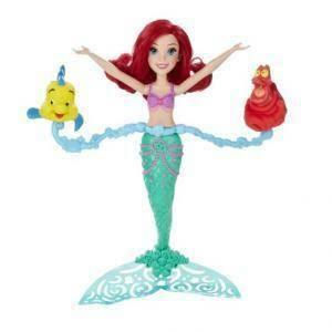 hasbro - mb disney princessa ariel ruota e nuota