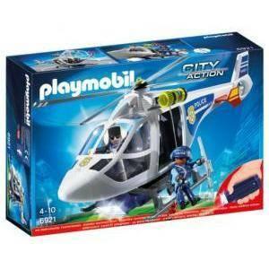 playmobil elicottero della polizia con luci di avvistamento