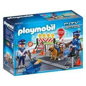 playmobil posto di blocco della polizia