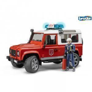 bruder land rover defender station wagon pompieri