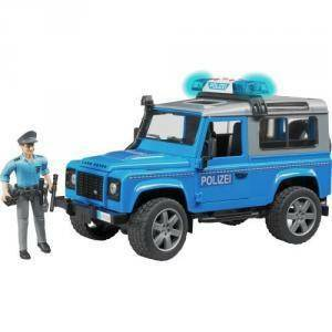 bruder bruder land rover defender station wagon polizia blu luci suoni