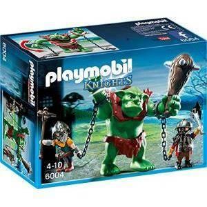 playmobil playmobil potente troll con guardiani