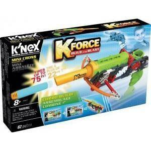 k'nex k'nex knex pistola a k-force mini cross blaster