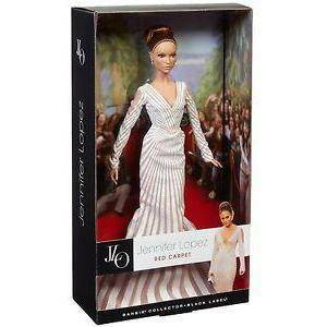 mattel mattel barbie jennifer lopez jlo red carpet collector