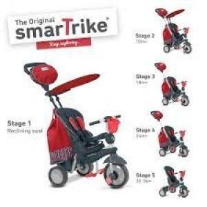 giocheria triciclo smart trike splash rosso