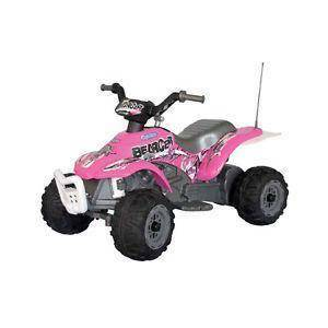 peg perego quad corral bearcat pink 6v