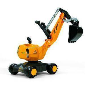 rolly toys rolly toys ruspa scavatrice rollydigger con ruote