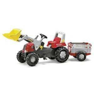 rolly toys rolly toys trattore con rimorchio e ruspa rolly junior