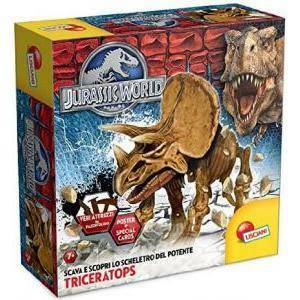 lisciani giochi jurassic world super kit triceratops