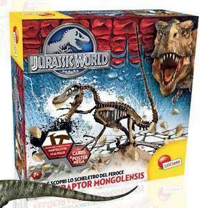 lisciani giochi jurassic world super kit velociraptor