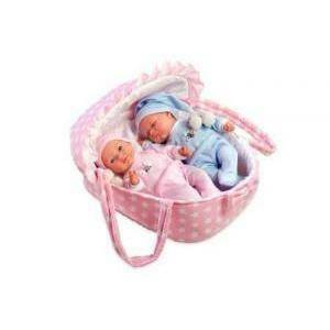 arias arias bambola gemelli con culla elegance