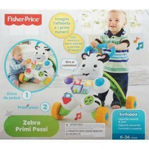 fisher price fisher price primi passi zebra