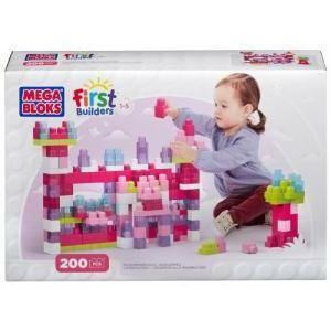 mega bloks mega bloks prime costruzioni set rosa 200 pezzi