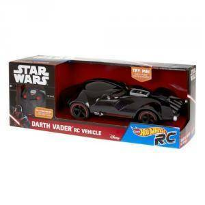 mattel mattel star wars hot wheels  darth vader auto radiocomandata