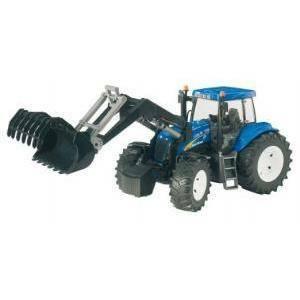 bruder trattore new holland con benna