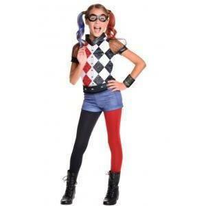 rubies rubies costume harley quinn dc superhero girls tg. m