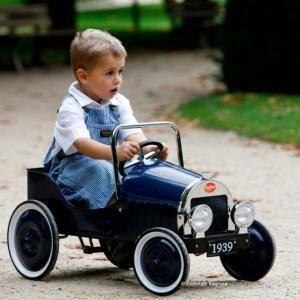 baghera baghera macchina a pedali classica, blu