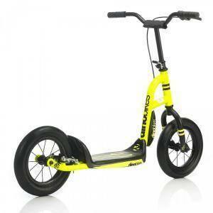 dino bikes dino bikes monopattino giallo fluo 12'' con freno