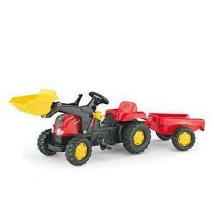 rolly toys rolly toys trattore rollykid con ruspa rimorchio